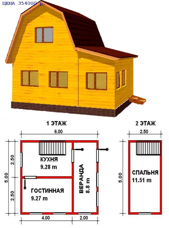 Как построить дом 6 на 5 своими руками